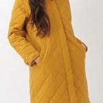 コートが可愛い!『いつ恋』有村架純の衣装 黄色のキルティングコートとノルディックニット