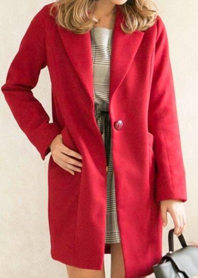 米倉涼子 赤いコート