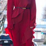 戦うお正月広瀬アリスの衣装 赤いフリルワンピースが素敵 ブランドは?